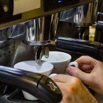 Espresso is prepared...